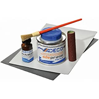 Adeco Schlauchboot Reparaturset Profi Neopren, Farbe:grau