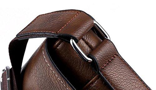 Borsa A Tracolla Messenger Uomo Bag Man Affari Borsa Casual Marea Sezione Verticale Business Bag Multicolor Opzionale Black