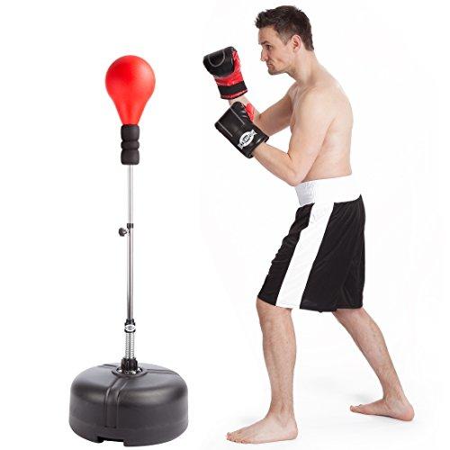 Ultrasport Punching Stand / Standbox-Trainer - höhenverstellbar inkl. Punchingball -
