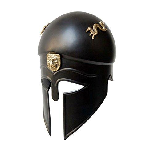 (Rüstung Veranstaltungsort: Königliche griechischen korinthischen Sturzhelm-Kopf-Rüstung Schwarz Einheitsgröße)