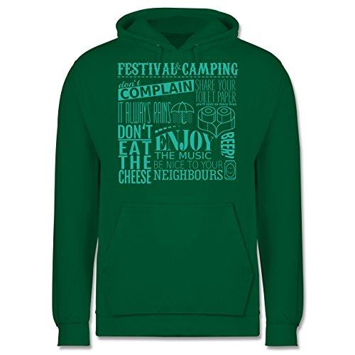 Festival - Festival camping lettering - Männer Premium Kapuzenpullover / Hoodie Grün