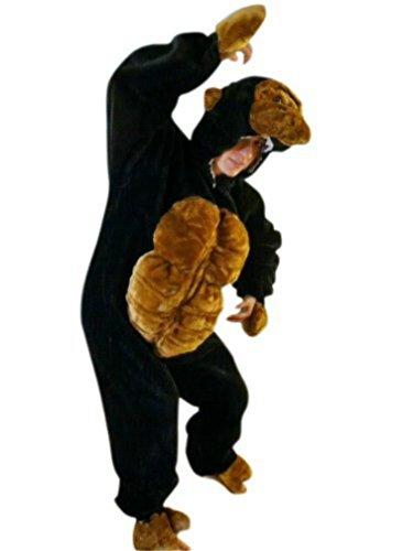 F17/00 Gr. M Gorilla Kostüm für Fasching und Karneval, Kostüme für Frauen Männer Erwachsene Paare, Faschingskostüm, (Gorilla Kostüme Und Käfig)