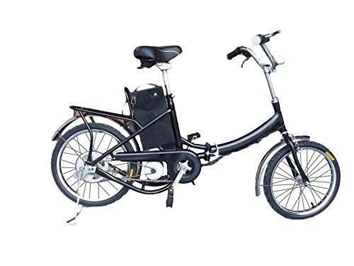 Fitness House FH 01 – Bicicleta eléctrica urbana , cuadro de acero y ruedas de 16″, color negro