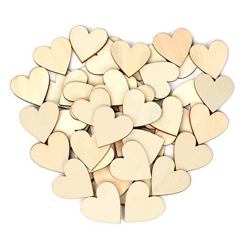 100 Piezas Corazones Madera 50 mm corazón decoración