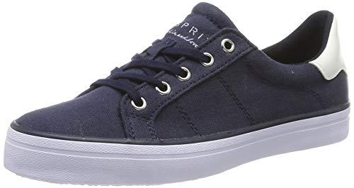 Navy Canvas-schuhe (ESPRIT Damen Mindy LU Sneaker, Blau (Navy 400), 38 EU)