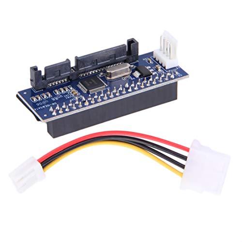 LouiseEvel215 3.5 HDD IDE/PATA zu SATA Konverter Add On Card Adapter für IDE 40-polige Festplatte, DVD Brenner zu SATA 7-poligen Datensystemen - Pata Ata-100