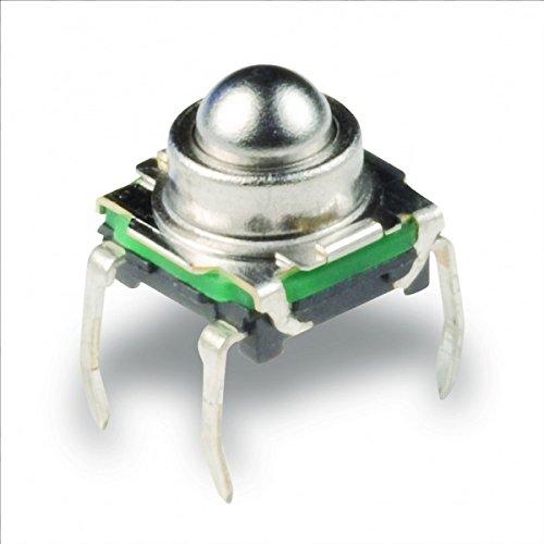 Mikro Druck Taster rund, nur 200gf, C&K KSJ0M211 - Tactile Switch Round Actuator (3er Pack)