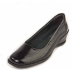 Suave Saskia schwarz Pumps, Komfort, Arbeit und Uniform schuhe, schwarz - schwarz - Größe: 40 2/3 EU
