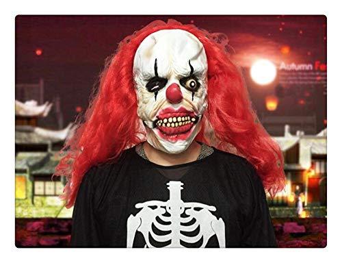 Z-one 1 gruselig gruseliges gruseliges gruseliges h?ssliches rotes Haar Clown die Sloth Maske Halloween Party Kost¨¹m Dekorationen Requisiten f¨¹r Erwachsene