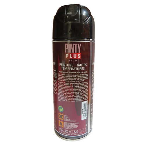 Pintyplus tech M123017 - Pintura spray anticalor 520cc negro