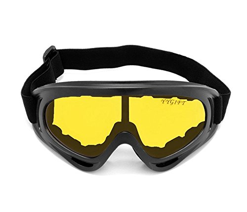 YYGIFT® CS Maschera antivento moto sci protezione UV400, per ciclismo Snowmobile-Occhiali di protezione Eyewear-Occhiali di sicurezza