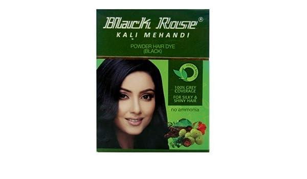 Mehndi Henna For African Hair : Buy henna black rose kali mehandi hair dye pack of