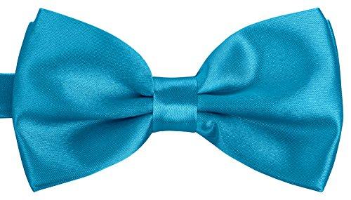 BomGuard Fliege für Herren azurblau I Männer Fliege für Hochzeit, Party oder edele Anlässe I Trendy Bow Tie I 3er Set Schleifen (Hemd Krawatte Mit Damen)