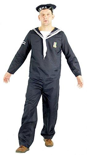 Foxxeo Seemann Matrosen Kostüm für Herren Karneval Fasching Matrose Party Größe L
