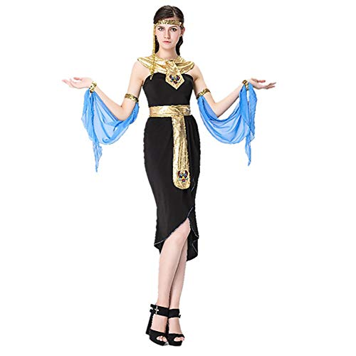 CWZJ Griechische Göttin Cleopatra Kostüm, Ägyptische Kostüm Königin Halloween-Spiel Uniform Versuchung Cosplay Karneval Halloween Carnival Lady