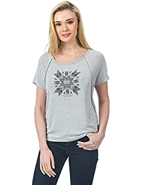 Rip Curl Padlei Tee Camiseta Mujer talla XL color Cement Marle