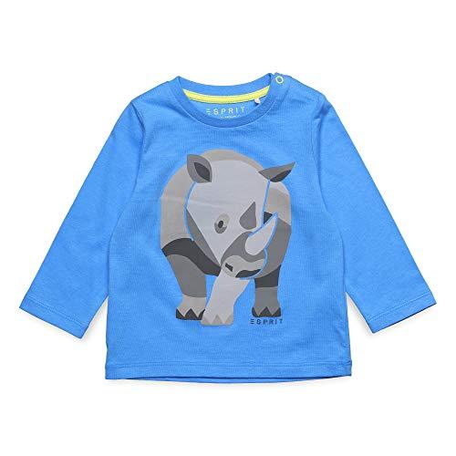 ESPRIT KIDS Baby - Jungen T-Shirt LS Langarmshirt, per Pack Blau (Azur Blue 443), 86 (Herstellergröße: 86)