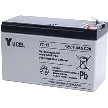 Batería Yucel Y7-12 7Ah 12V (151mm*65mm*94mm) Para Alarma, SAIs (UPS), luces de emergencia...