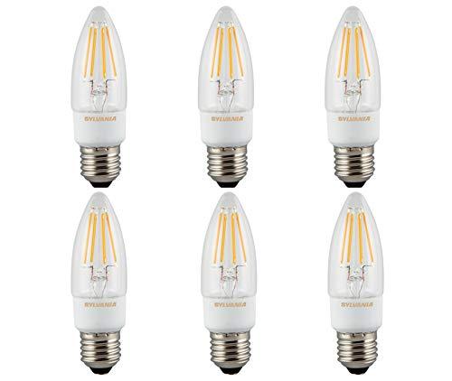 Sylvania Toledo RT LED-Kerzenlampe, dimmbar, 470 lm, E27 SL (Watt 75 Sylvania)