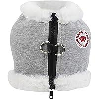 MCYs Haustier Winter Warme Fleeceweste Cat Jacke mit Hut Pullover Verdickt Welpen Kleidung