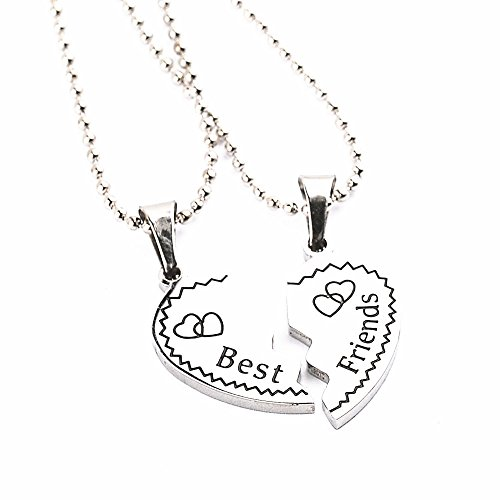 lureme® Best amigos Forever Love Corazón BFF Break Pendent Friendship Necklaces Regalo for amigos(nl004226-5)