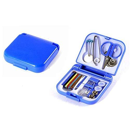 Mini-notfall-kit (Unbekannt Mini Travel Sewing Kit Nähzubehör für Heim und Notfall, gefüllt mit Reparatur- und Nähnadeln, Scheren, Fäden usw. von TheBigThumb, blau)