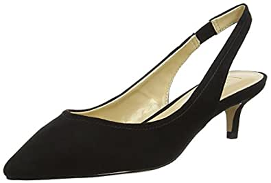 Womens Misty Sling Back Heels, Black (Black Microfibre), 8 UK 42 EU Lotus