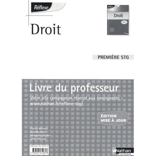 Droit 1e STG : Livre du professeur by Patrick Mercati (2009-07-22)