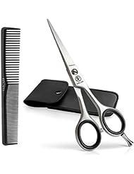 Haarschere Friseurschere inkl. Etui und Kamm (3er Set) - Extra scharf - Haarschneideschere Profi 5,5 Zoll - Einseitige Mikroverzahnung - Schere inkl. Haare schneiden Ebook