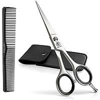 Haarschere Friseurschere Set mit Etui und Kamm (3er Set) - Haarschneideschere Profi für perfekten Haarschnitt - Einfach Haare Schneiden für Damen und Herren