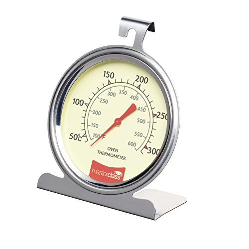 Kitchencraft Termómetro para Horno 50º a 300ºc, Acero Inoxidable, Plateado, 11x17.3x4 cm