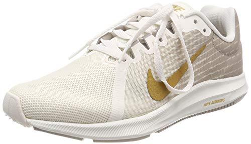 Nike WMNS Downshifter 8, Chaussures de Running Compétition Femme, Multicolore (Phantom/Metallic Gold/Moon Particle 012), 38 EU