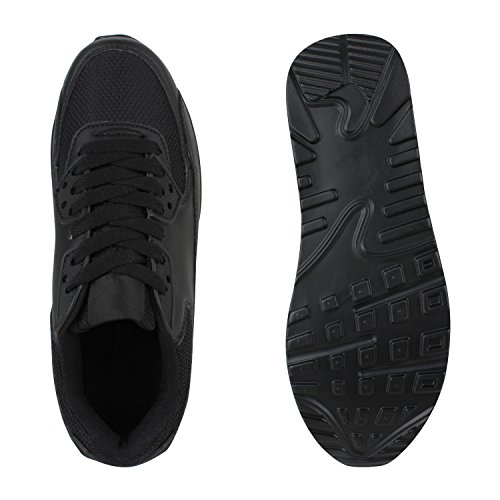 Damen Herren Unisex Laufschuhe Profil Sohle Sportschuhe Fitness Schuhe Schwarz