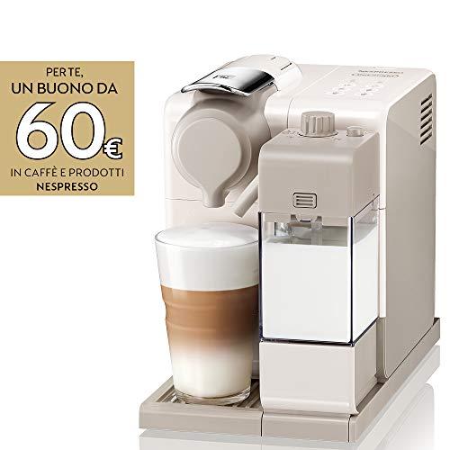 De'longhi nespresso lattissima touch animation macchina da caffè espresso, porzionato, chiuso, 1400 w, 1 cups, plastica, beige