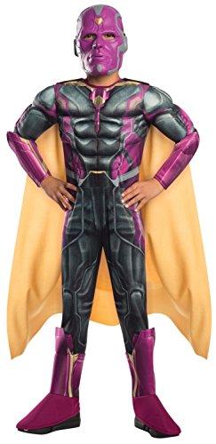 Vision Deluxe The Avengers 2 Kinder Kostüm, Größe:L (Vision Kostüm)