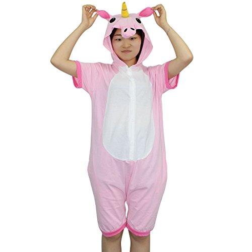 Tier Schlafanzug Erwachsene Pyjama Einhorn Schlafanzug mit Reißverschluss Tierkostüme Jumpsuit Overall Onesie Halloween Karneval Cosplay Kostüm - BienBien (Womens Hippie Halloween Kostüme)