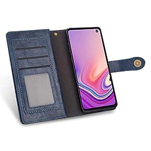 JAWSEU Compatible con Huawei P20 Lite Funda, Carcasa PU Cuero Libro Billetera Tapa Antigolpes Flip Wallet Soporte Plegable Cubierta Case 9 Ranuras Tarjetas Cierre Magnético Protectora Funda,Azul
