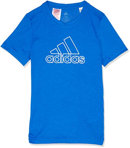 adidas Jungen Training Prime Kurzarm T-Shirt, Blue/White, 140