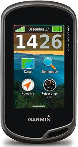 """Garmin Oregon 650 GPS Portatile, Schermo 3"""" Touch, Camera 8 Megapixel, Altimetro e Bussola Elettronica, Grigio/Nero"""