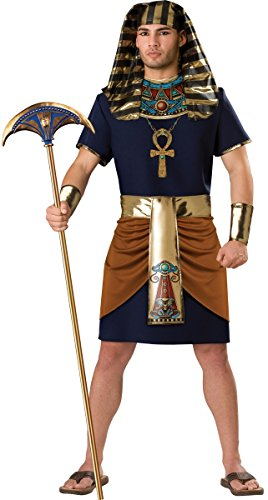 Herren 5Stück Ägyptische Pharao Historical Fancy Kleid Kostüm Outfit M L XL (Adult Kostüm 5 Stück)
