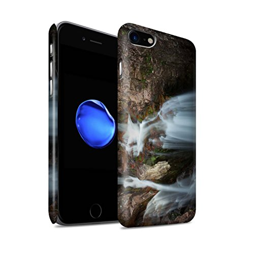 STUFF4 Matte Snap-On Hülle / Case für Apple iPhone 8 / Gebirge/Loch Muster / Schottisch Landschaft Kollektion Kaskade