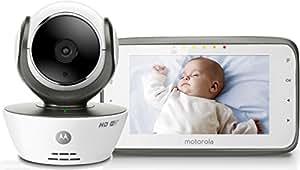 """Motorola Wi-Fi Baby Monitor Video con schermo LCD a colori da 4.3"""" - MBP854 Connect - Bianco"""