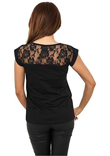 TB714 Ladies Top Laces Tee T-Shirt Black