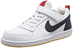 Nike Jungen Court Borough Low (PSV) Basketballschuhe, Weiß (White/Obsidian/Univ Red/Gum Lt Brown 105), 30 EU