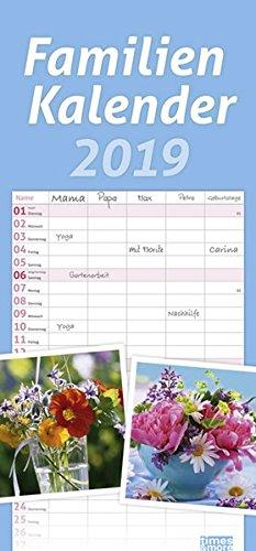 times & more Familienkalender Blumen 2019