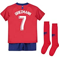 UKSoccershop 2018-2019 Atletico Madrid Home Nike Little Boys Mini Kit (Antoine Griezmann 7