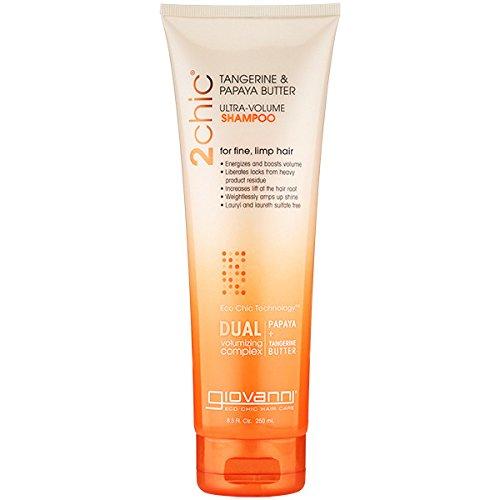 Giovanni 2Chic Ultra-Volume Tangerine & Papaya Butter Shampoo, 8.5-Ounce by Giovanni Cosmetics, Inc. -