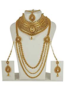 MUCH MORE South Style Work Full Bridal Necklace Set Women Wedding