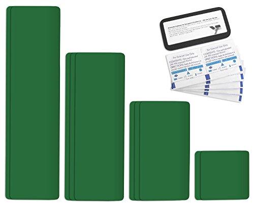 Tape autocollant planifier Kit Pansements réparation Easy Patch Comfort 100 mm Largeur - 10 pièces - Émeraude RAL 6001