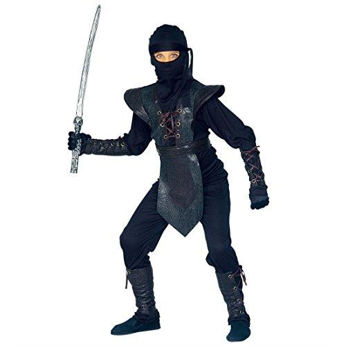 Kinder Ninja Kostüm Asia Ninjakostüm Samurai Kinderkostüm Krieger Fasching Asiatischer Kämpfer Faschingskostüm Kampfsport Anzug Karnevalskostüm Sport Mottoparty Verkleidung Karneval Kostüme für ()